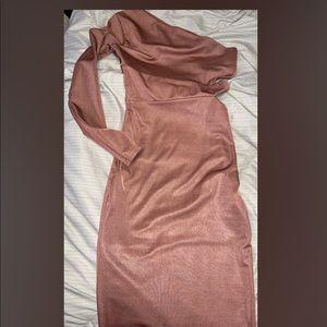 Rose Gold- one sleeve Dress